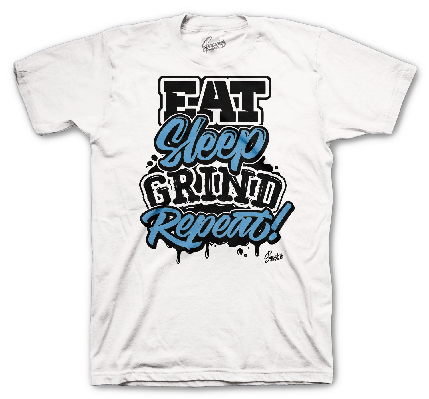 Jordan 3 UNC Shirt - Daily Routine - White