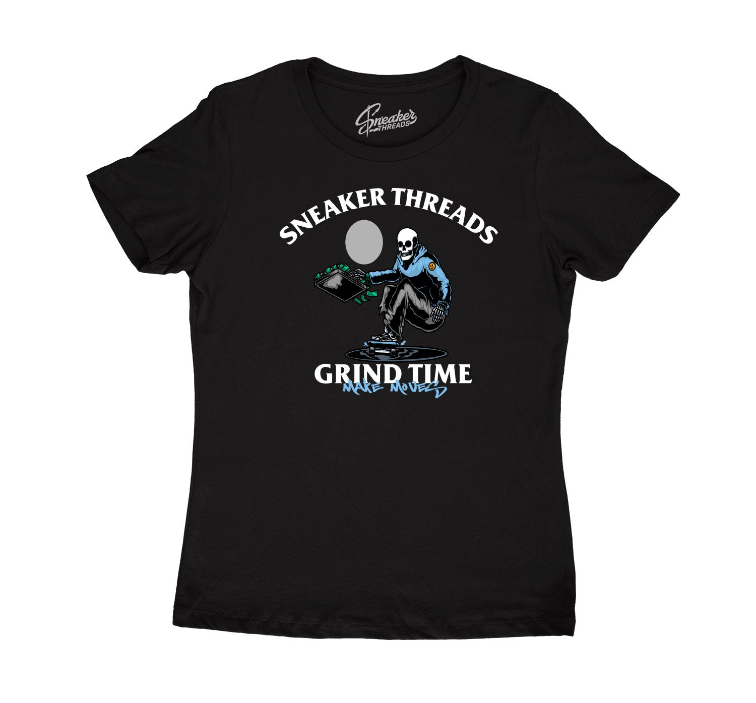 Womens University Blue 9 Shirt - ST Grind Time - Black