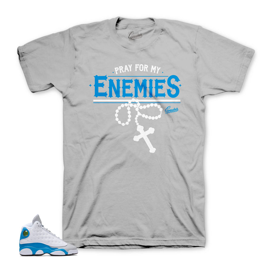 Jordan 13 shirts match retro 13 italy blue shoes.