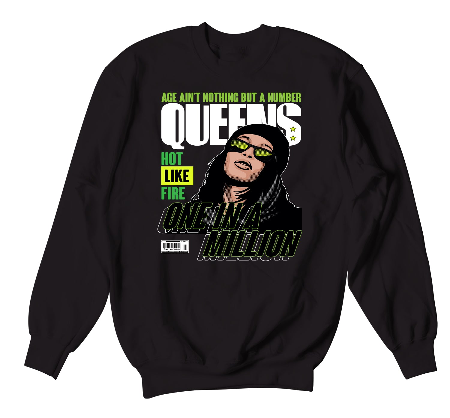 Grinch 6 Sweater -  Queens - Black