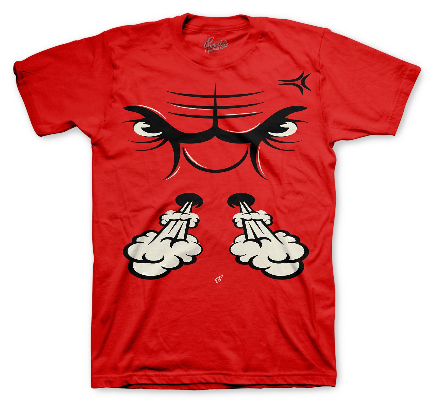 Jordan 12 Super Bowl Shirt - Raging face - Red