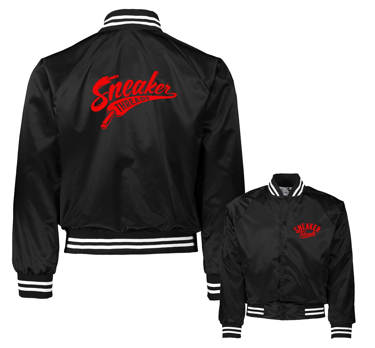 Jordan 11 Bred Jacket - ST Laces - Black