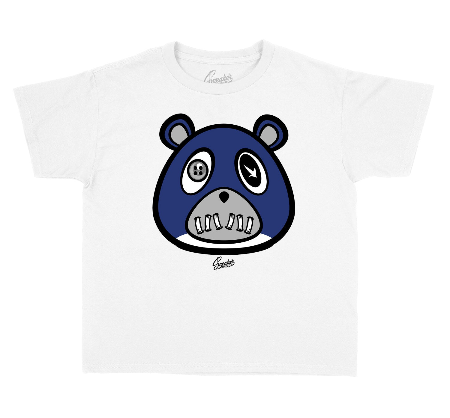 Midnight Navy Jordan 1 sneaker collection to match kids tees