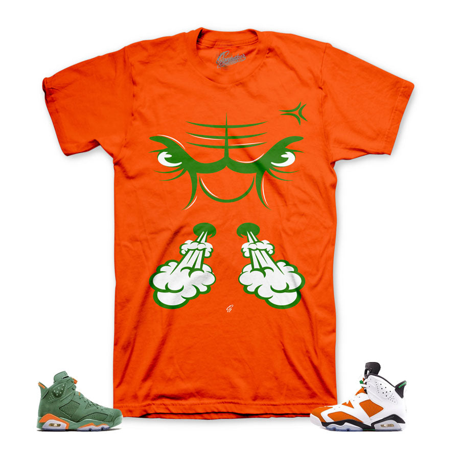 Jordan 6 gatorade tees match retro 6 be like mike.