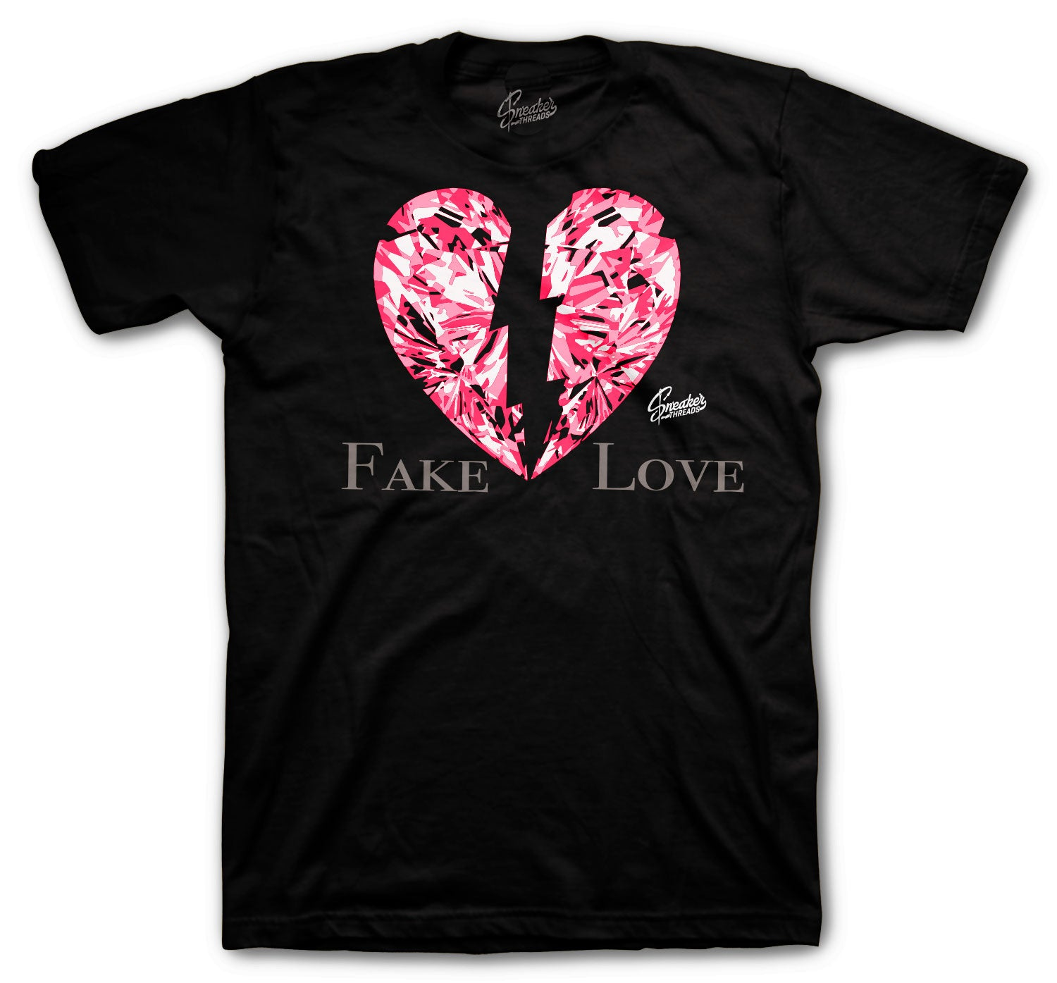Jordan 4 Taupe Haze Shirt - Fake Love - Black