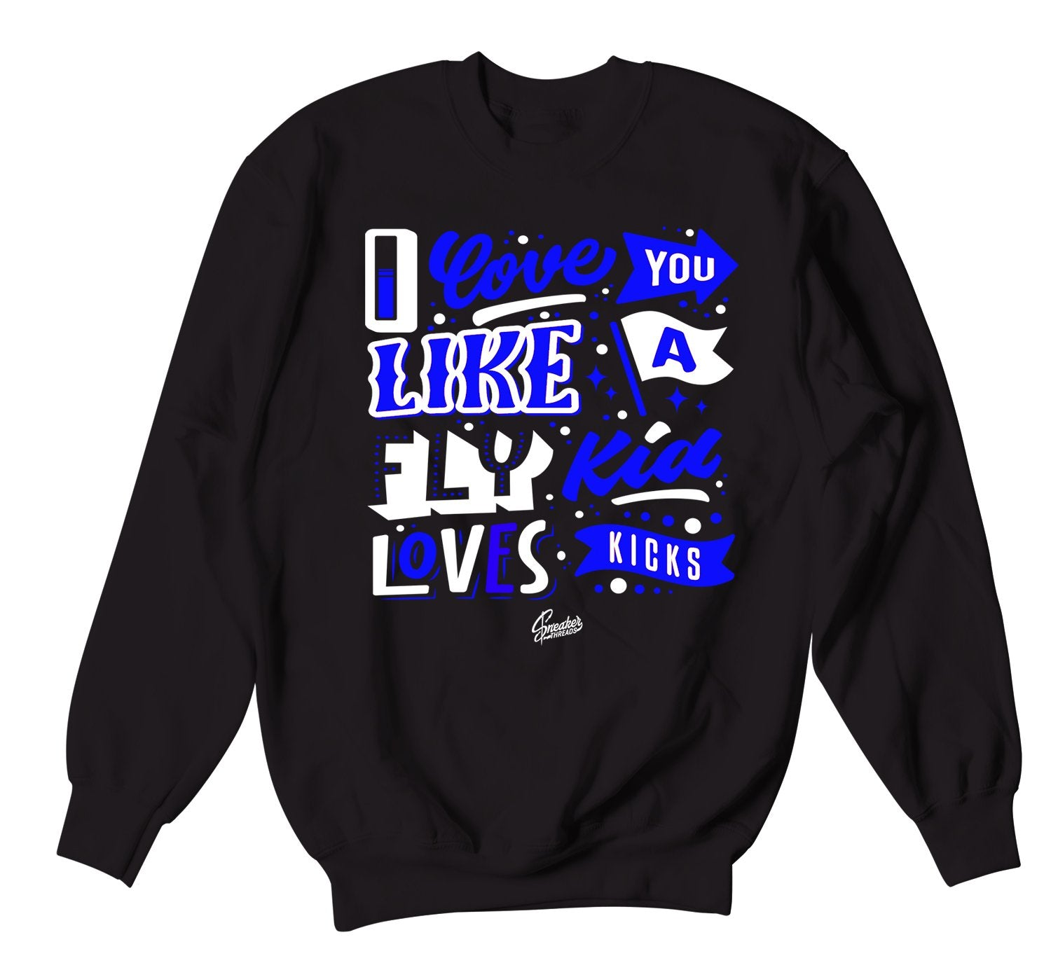 sweatshirt collection designed to match the Jordan 9 racer blue shirts