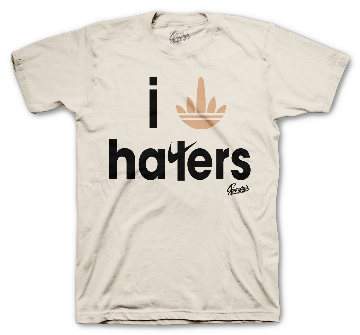 Stripe Haters shirt to wear with Yeezy 500 Stone