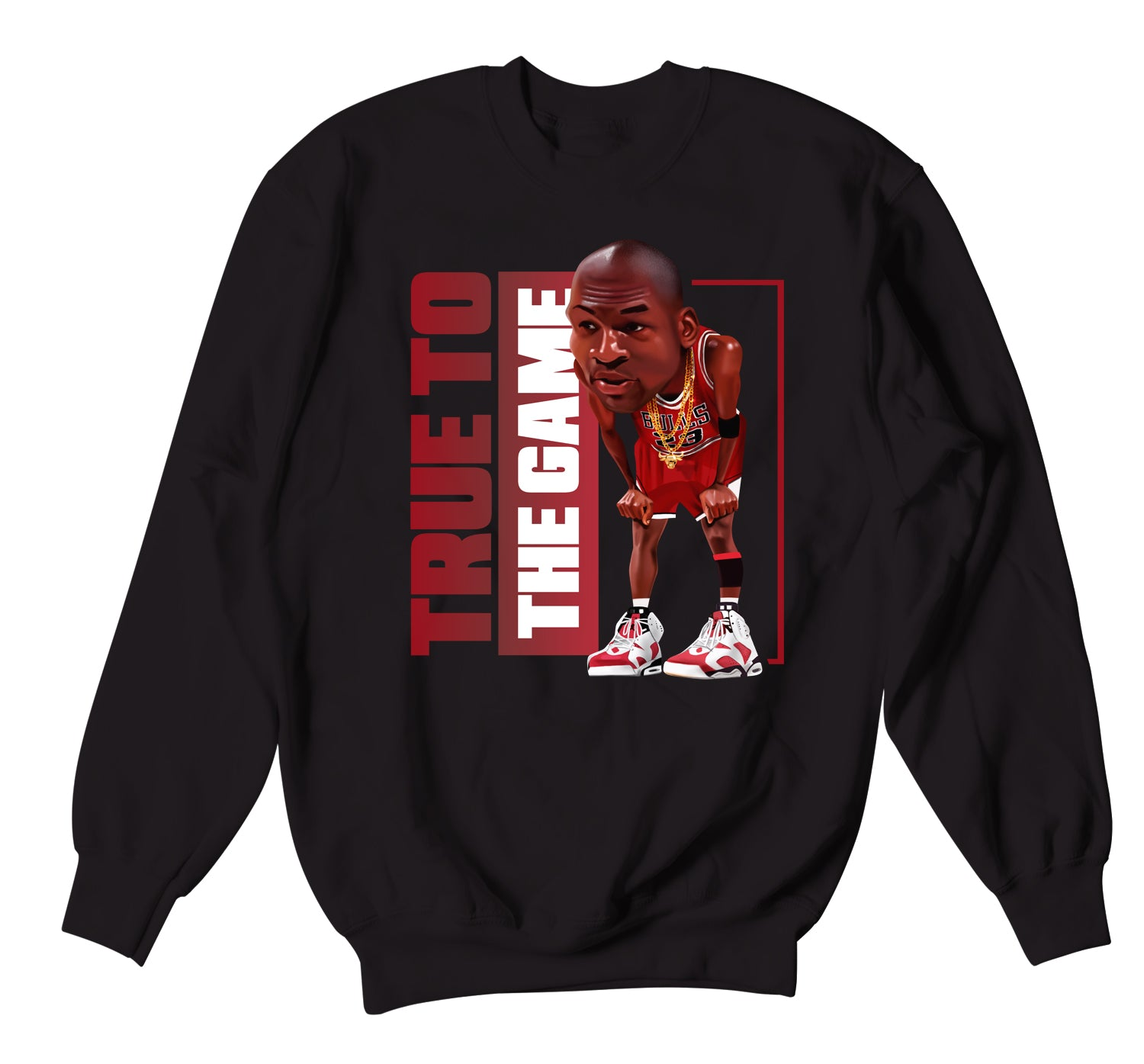 Jordan 6 Carmine Sweater - True Game - Black