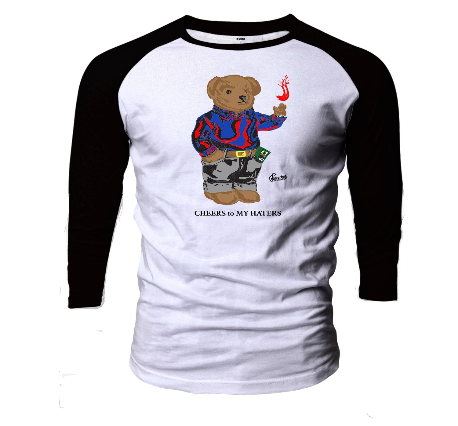 Jordan Loyal Blue 4's Cheers bear Raglan to stay fresh