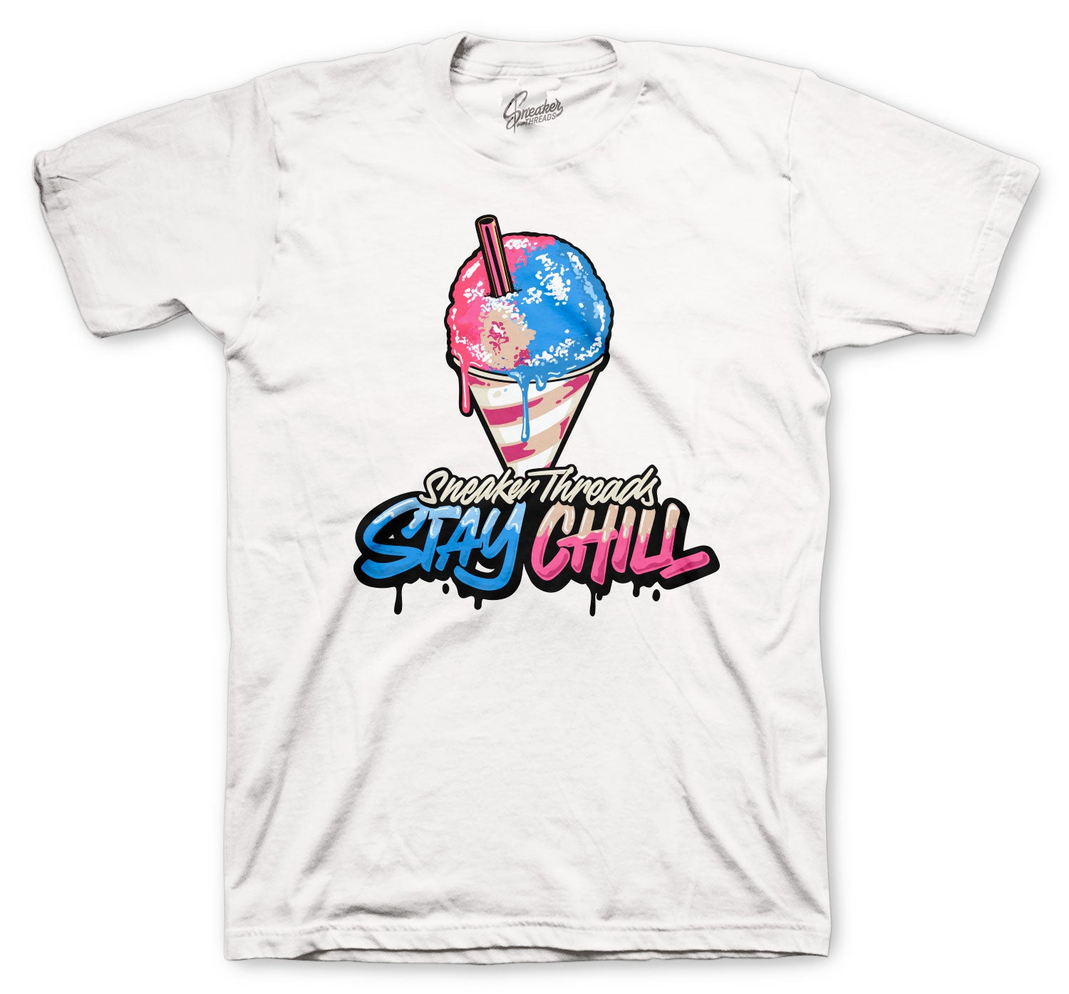 Jordan 4 Union Shirts - Stay Chill - White