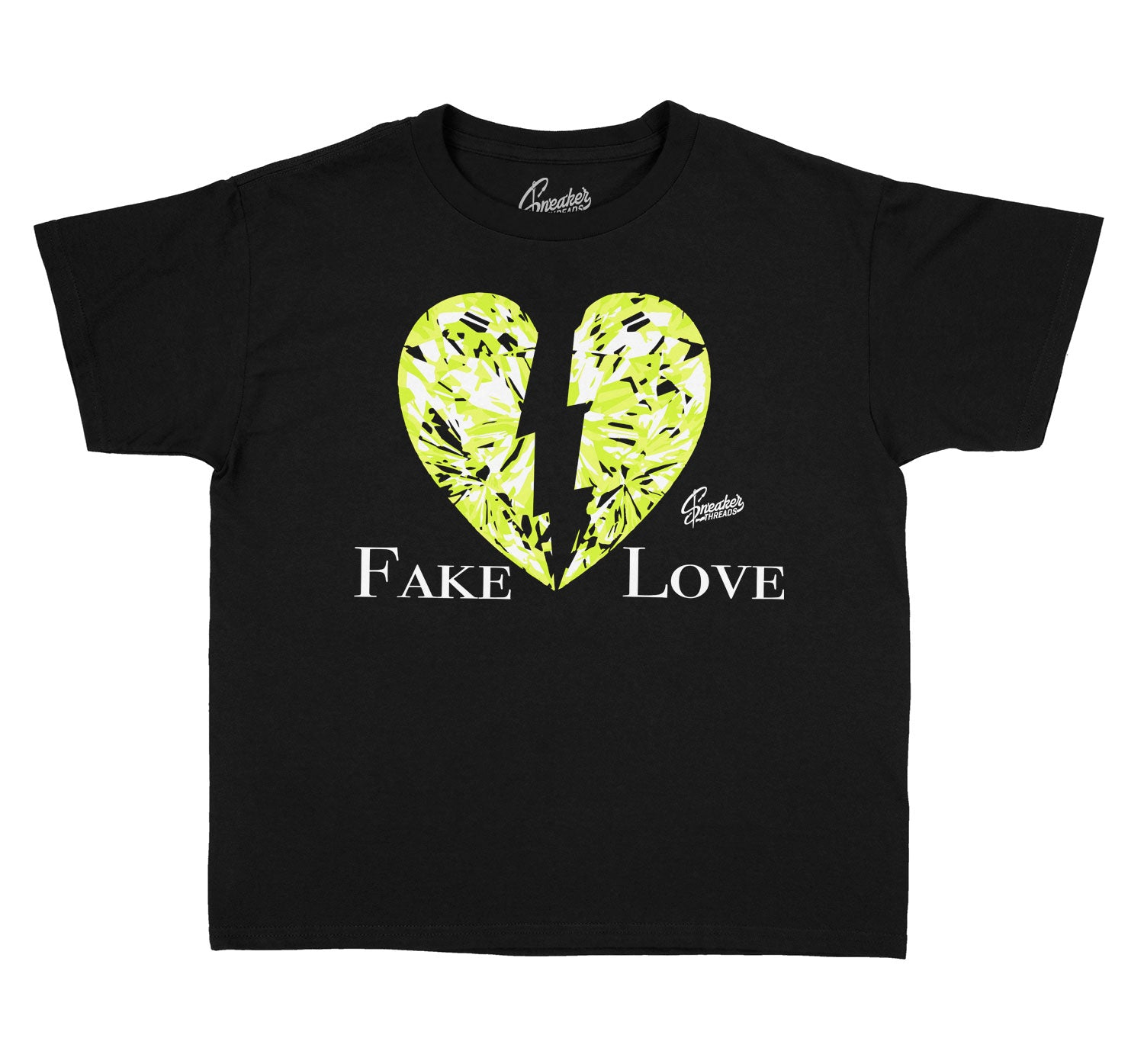 Kids Foam Volt Shirt - Fake Love - Black