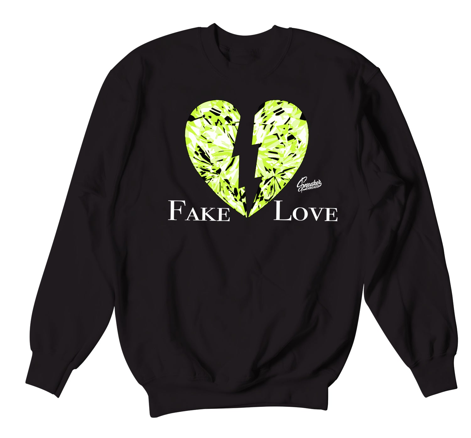 Foamposite Pro Volt Sweater - Fake Love - Black