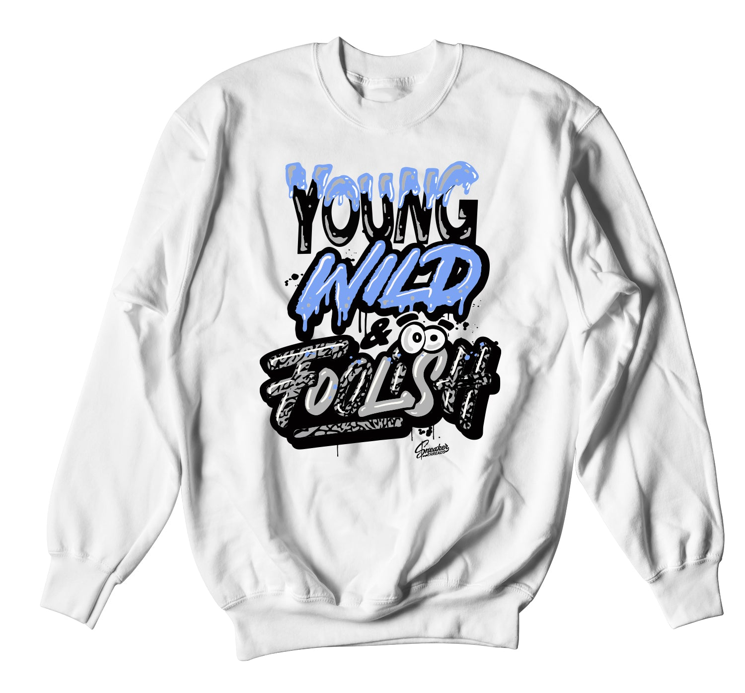 Jordan 3 UNC Sweater - Young Wild - White
