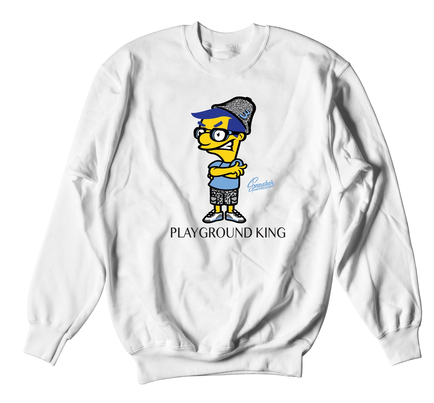 Jordan 3 UNC Sweater - Playground King - White