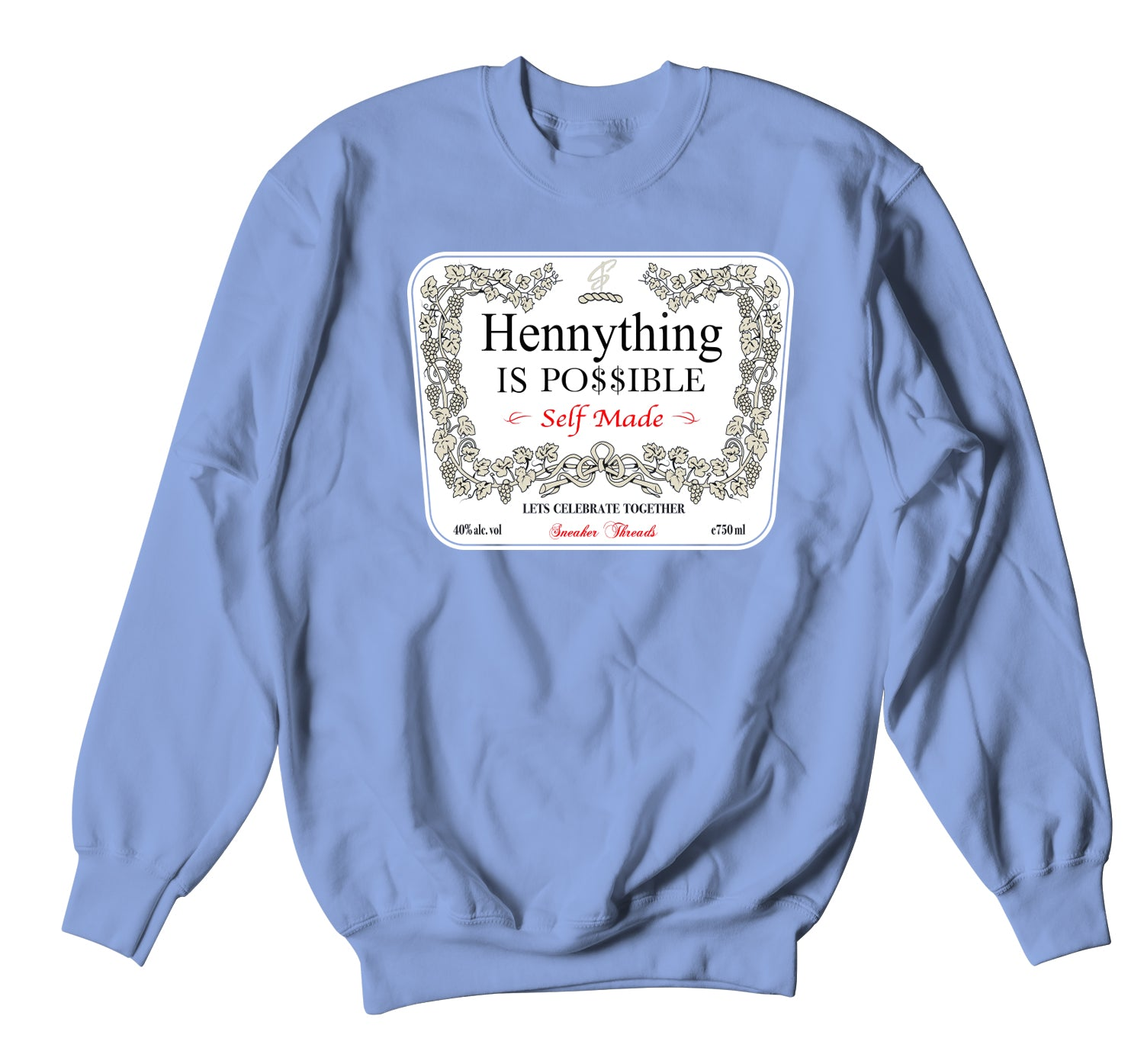 Jordan 3 UNC Sweater - Hennything - Light Blue