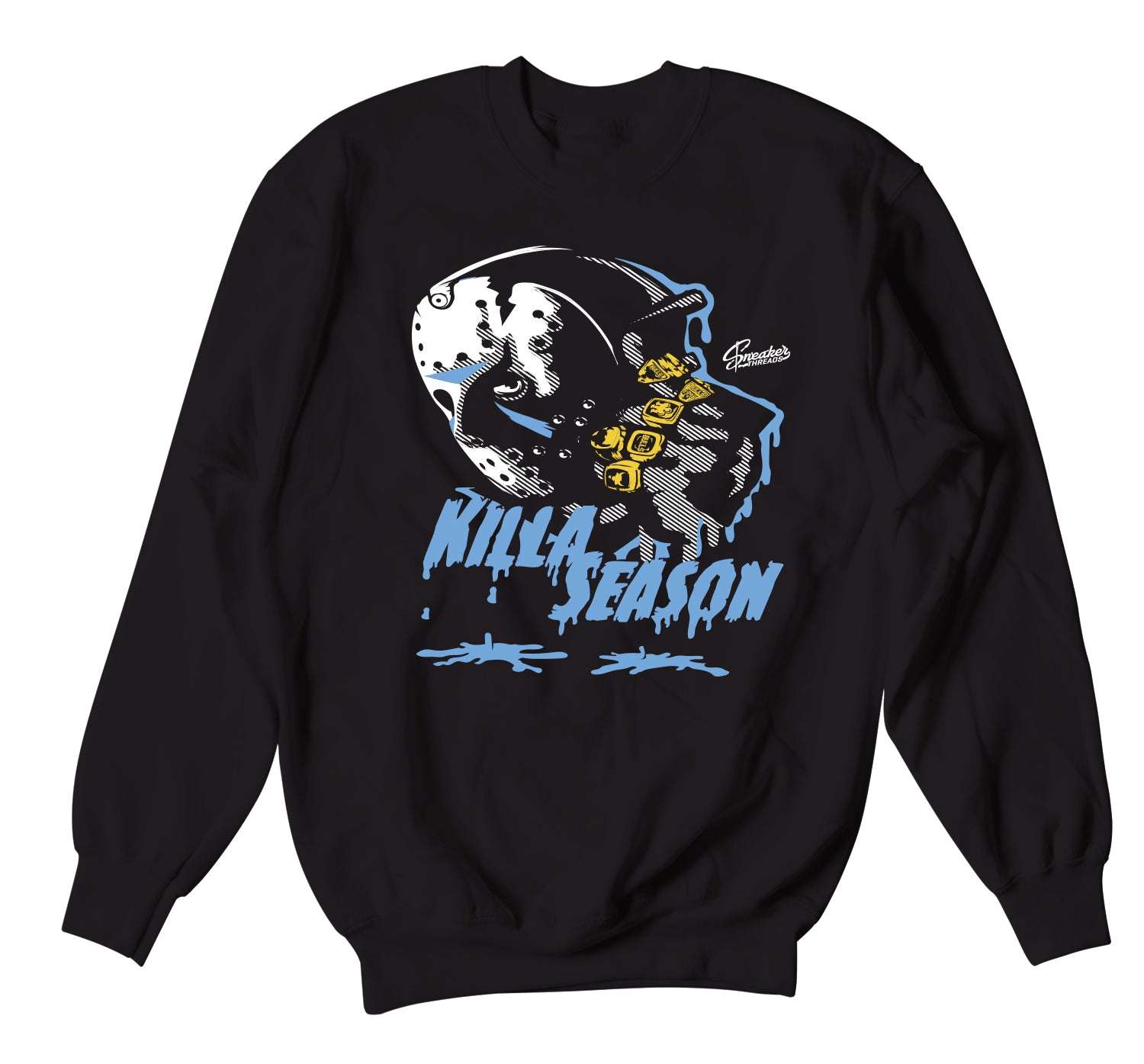 Jordan 3 UNC Sweater - Killa Season - Black