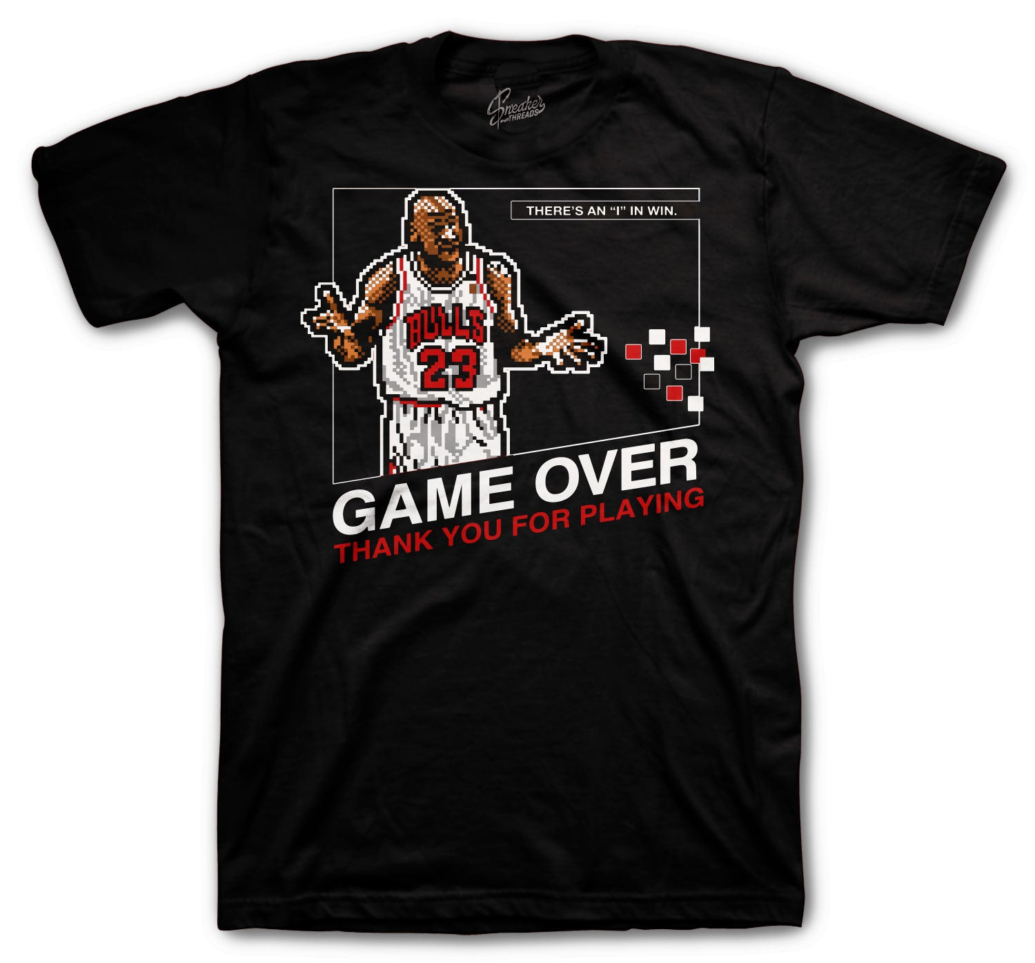 Jordan 6 Carmine Shirt - Game Over - Black