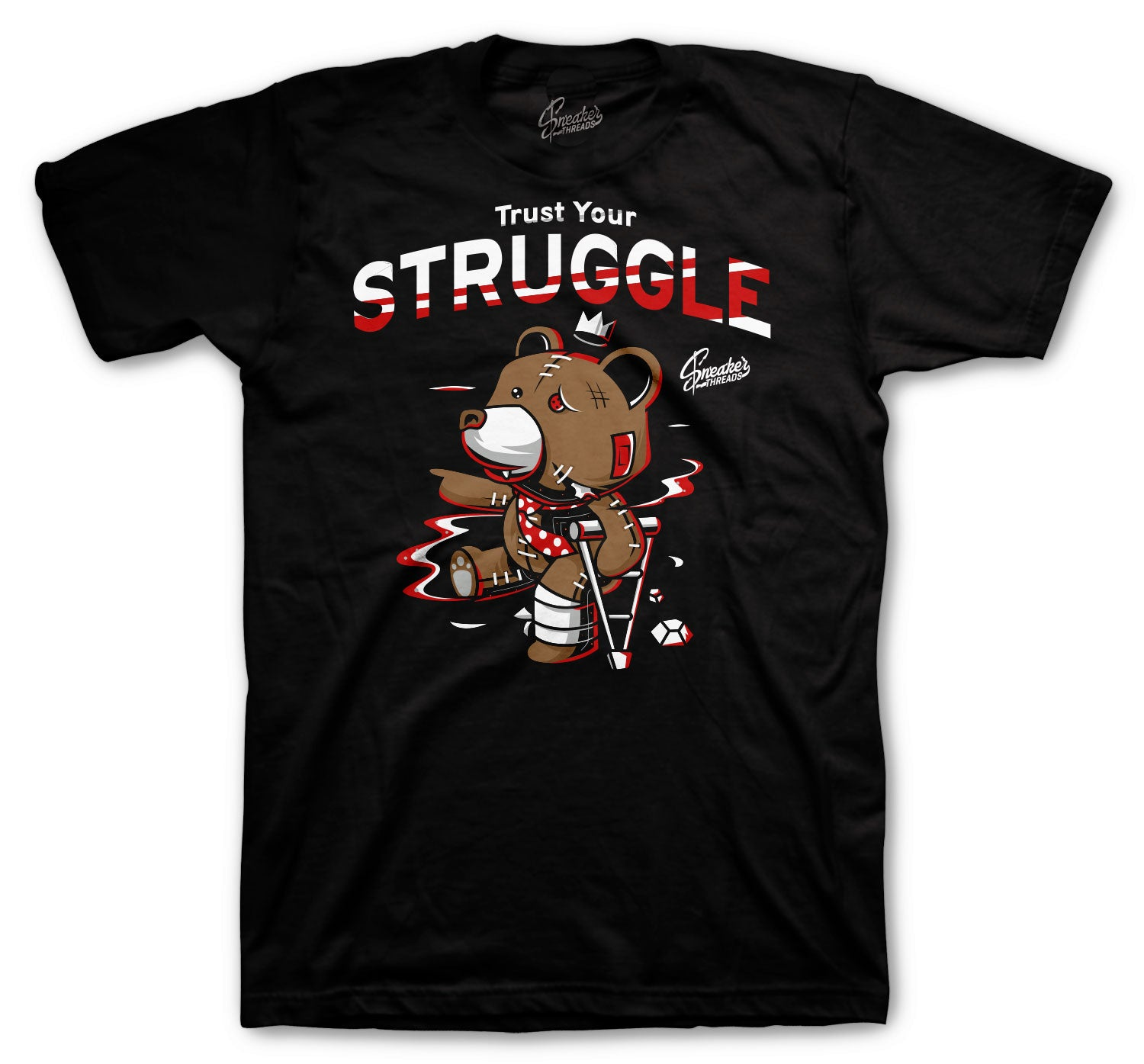 Jordan 6 Carmine Shirt - Trust Your Struggle - Black