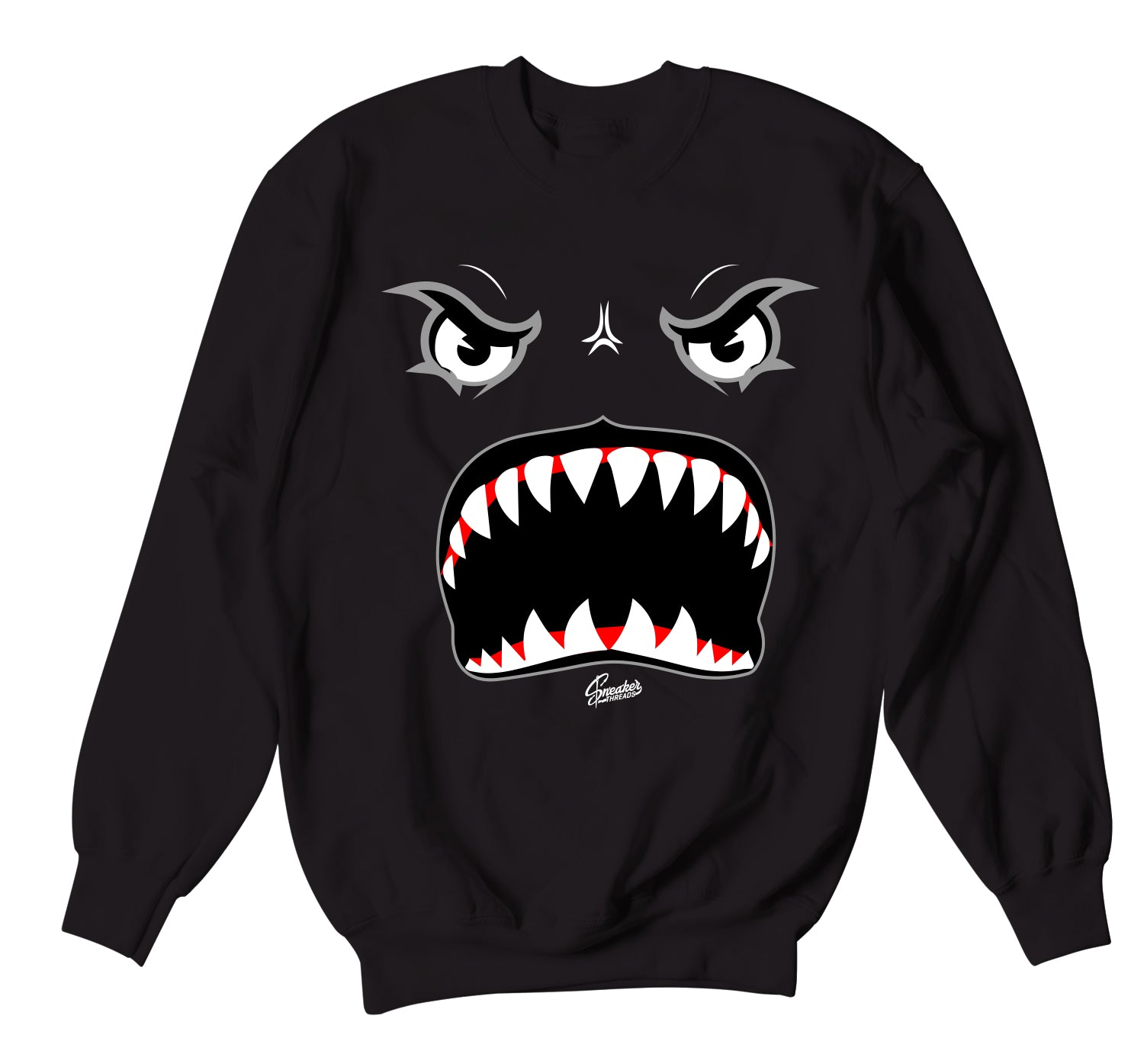 Foam Pro White/Black Sweater - Bite Me - Black