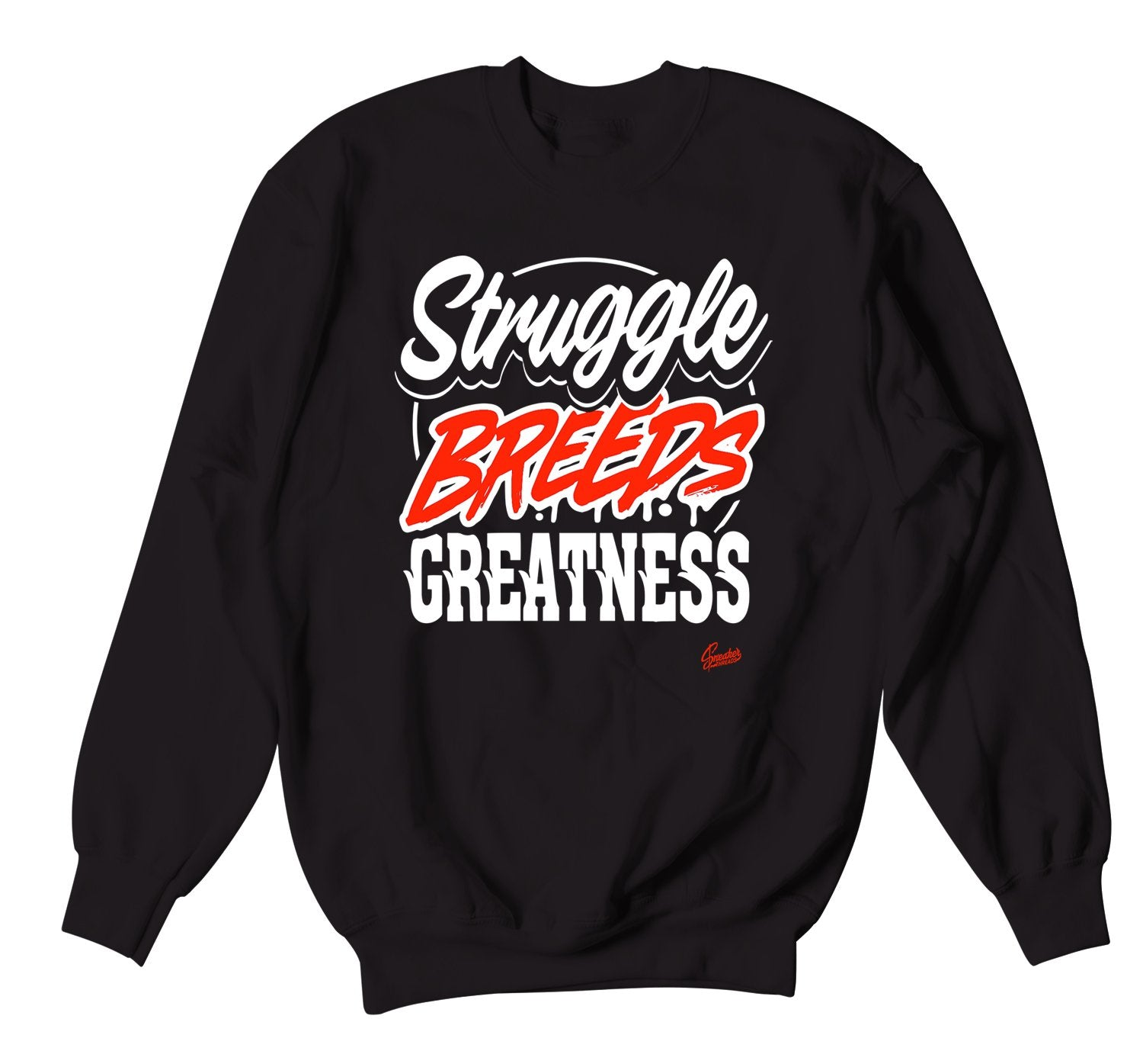 crewneck sweater collection designed to match the lava foamposite sneakers
