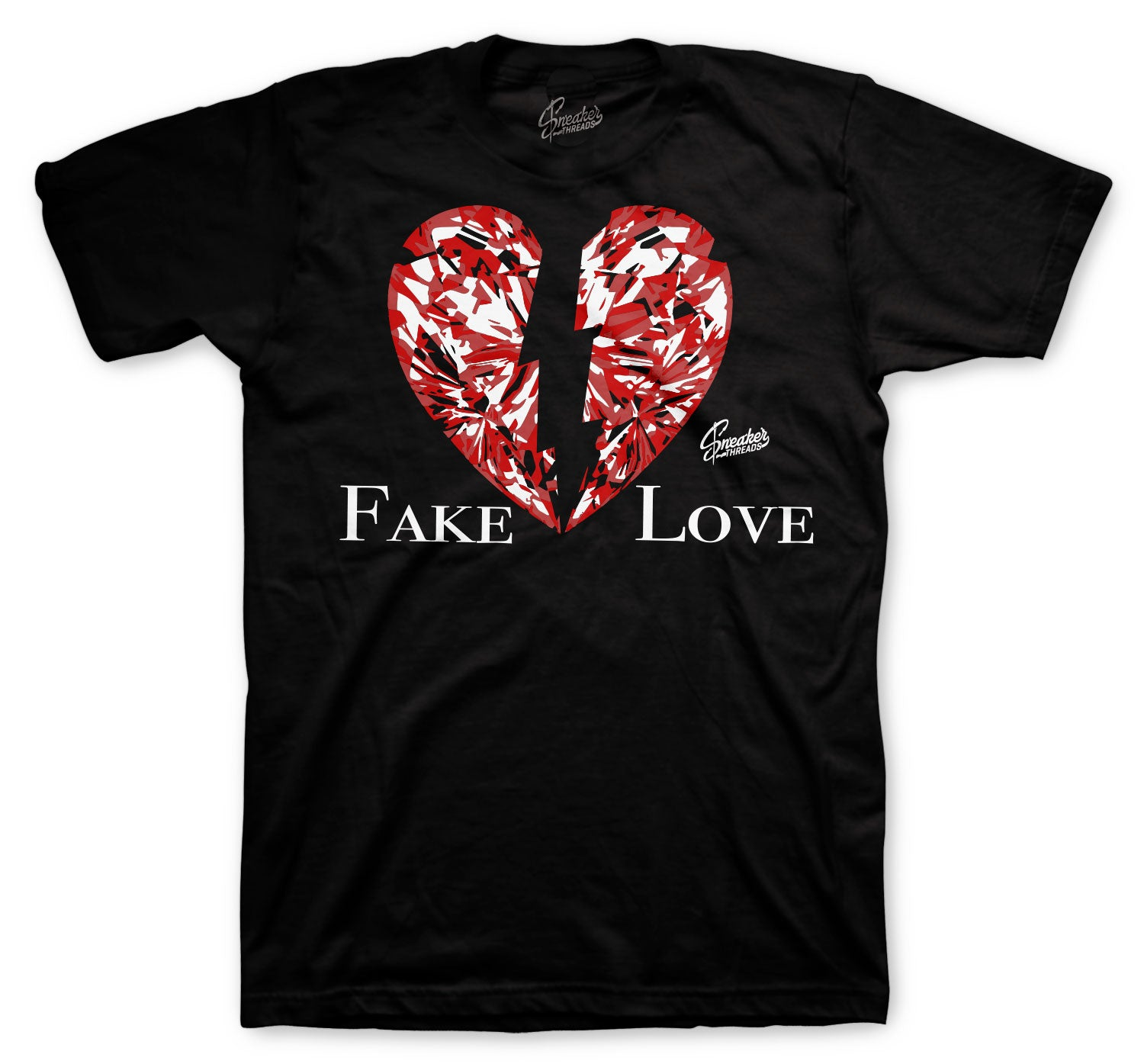 Jordan 6 Carmine Shirt - Fake Love - Black