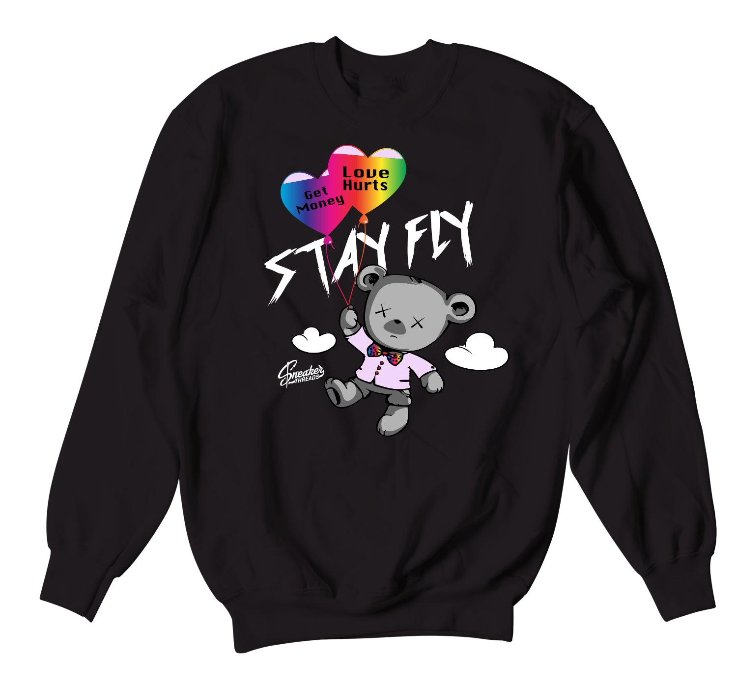 Jordan 1 Balvin Sweater - Money Over Love - Black