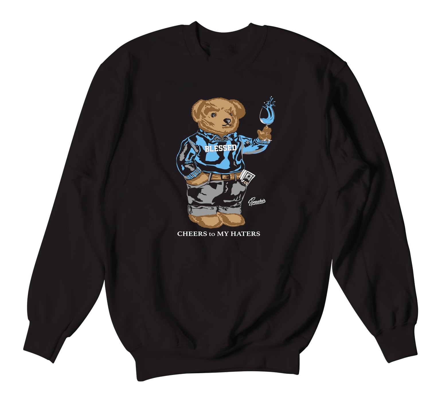 Jordan 3 UNC Sweater - Cheers bear - Black