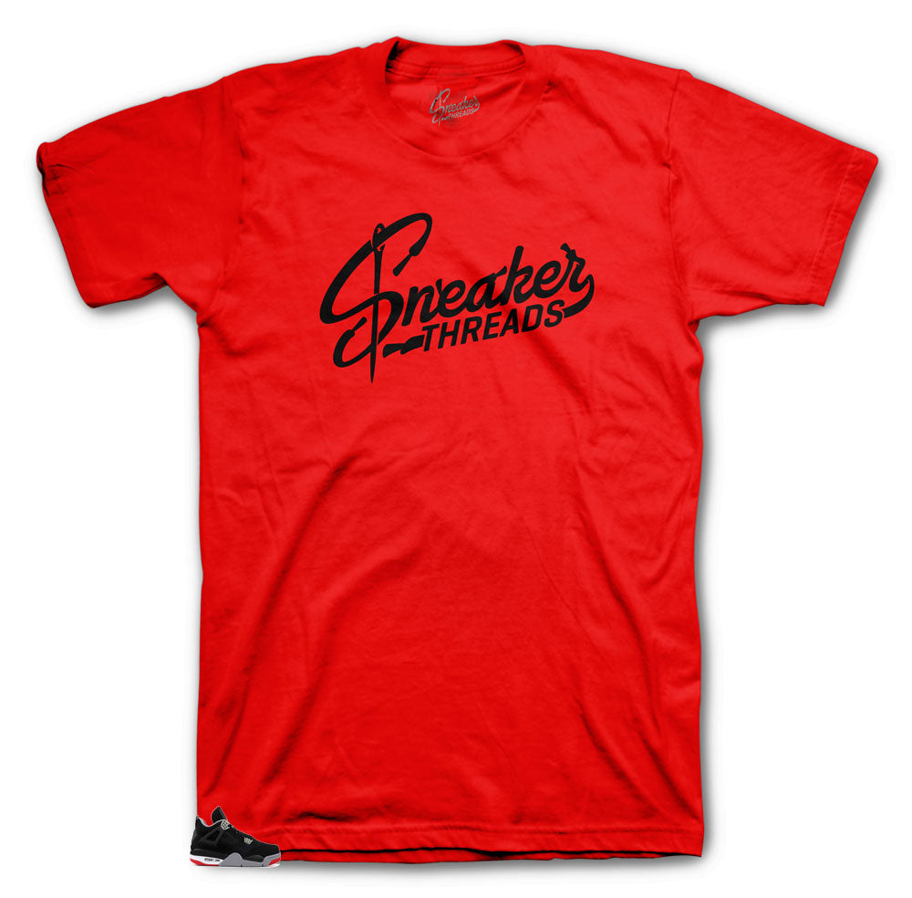 Original sneaker threads shirts to match with Bred 4's