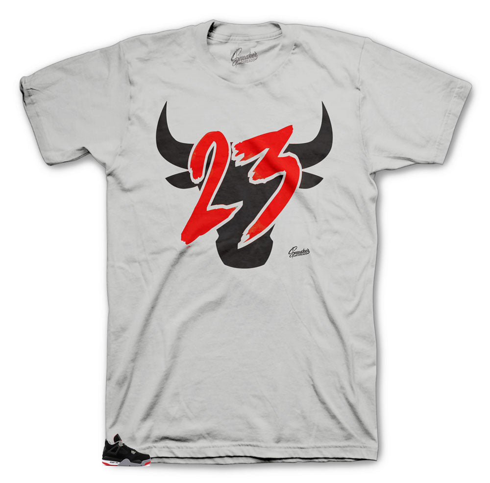 Jordan retro 4s Bred matches tees made to match the Jordan 4 bred retro sneakers