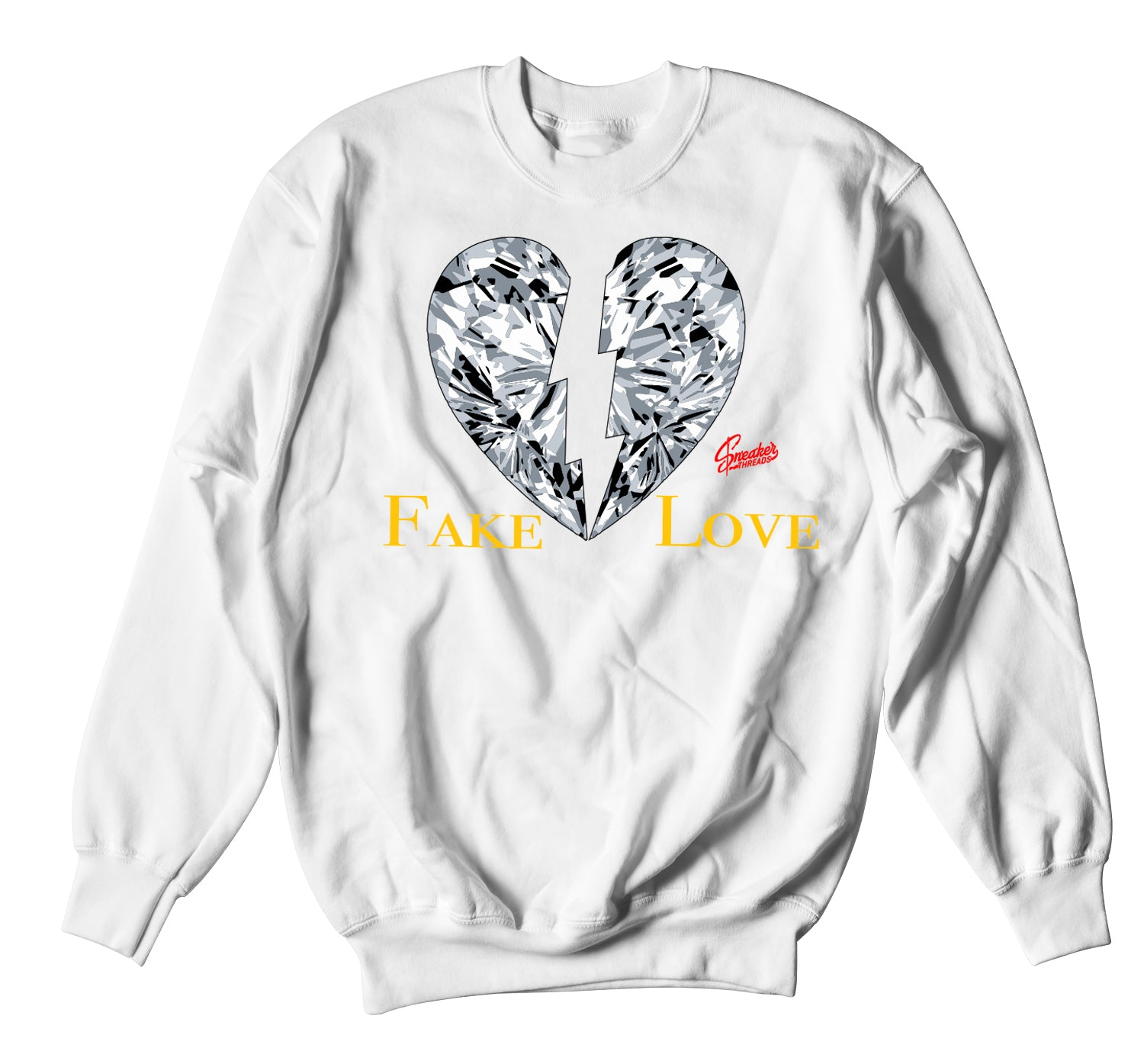 Jordan 3 Cool Grey Sweater - Fake Love - White