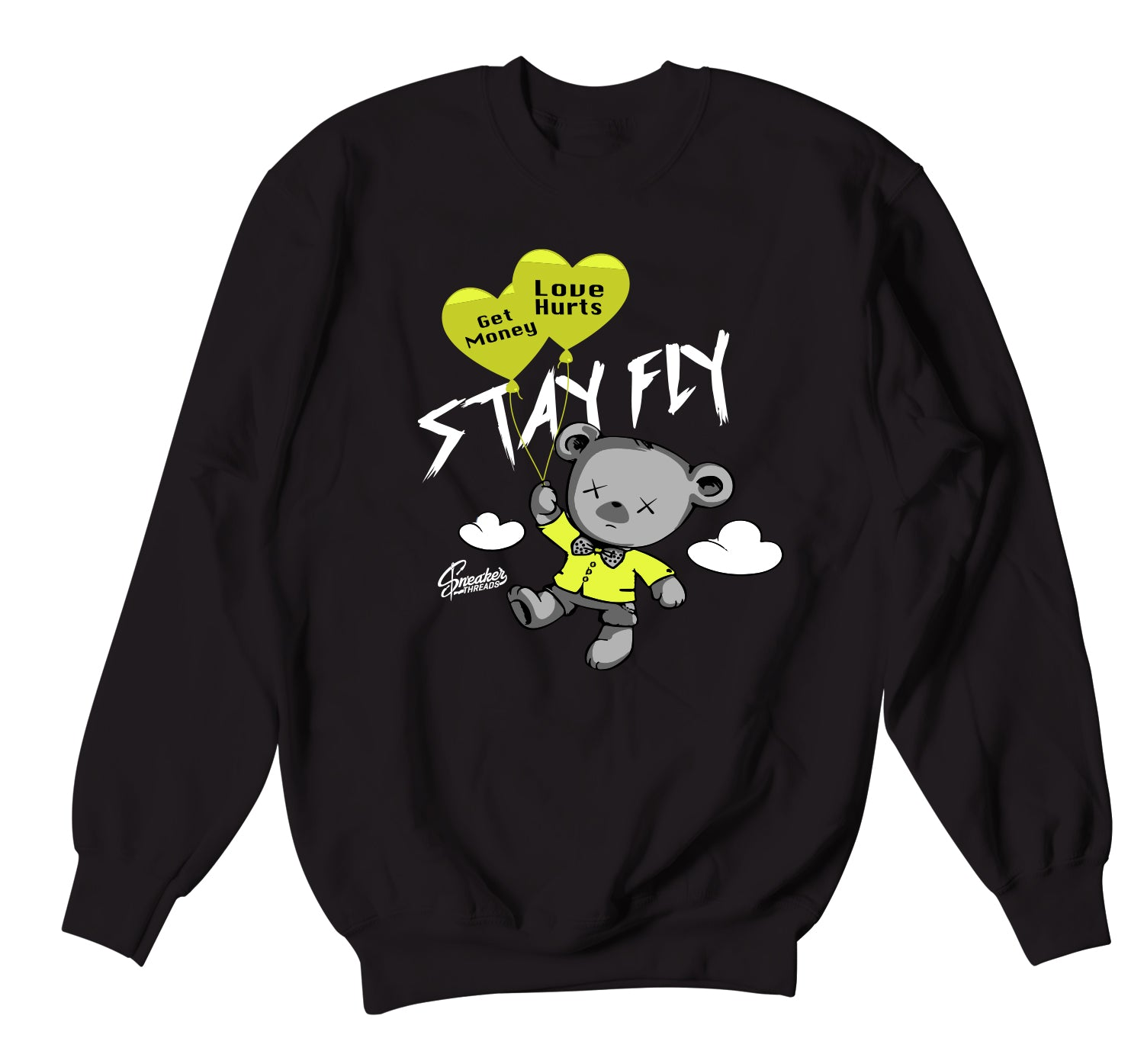 Foamposite Pro Volt Sweater - Money Over Love - Black