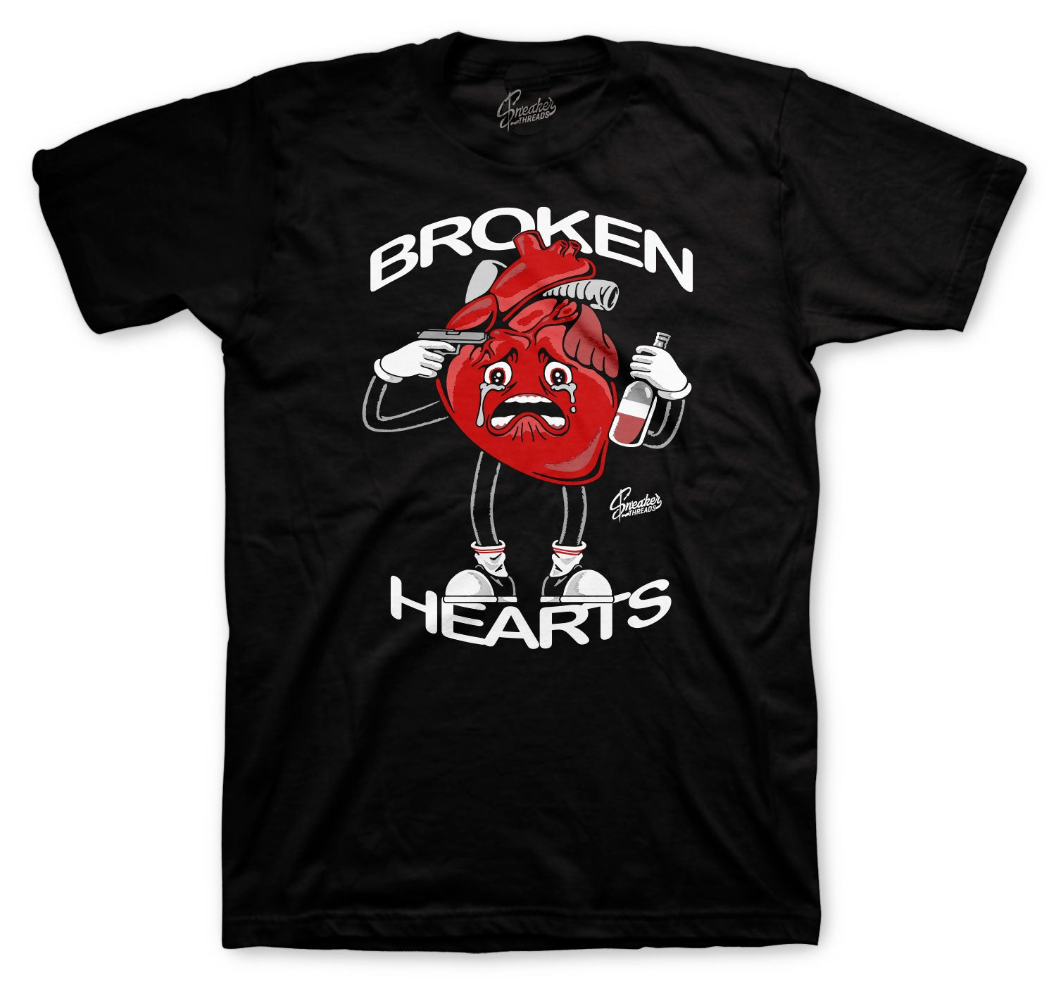 Jordan 6 Carmine Shirt - Broken Hearts - Black