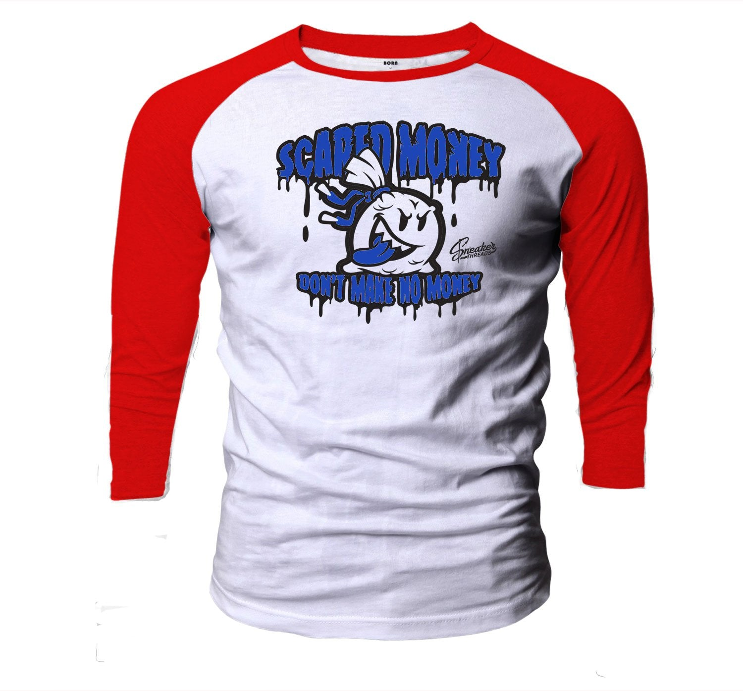 Jordan 4 Loyal Blue Scared Money Sick Raglan