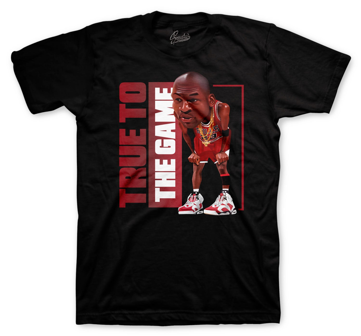 Jordan 6 Carmine Shirt - True Game - Black