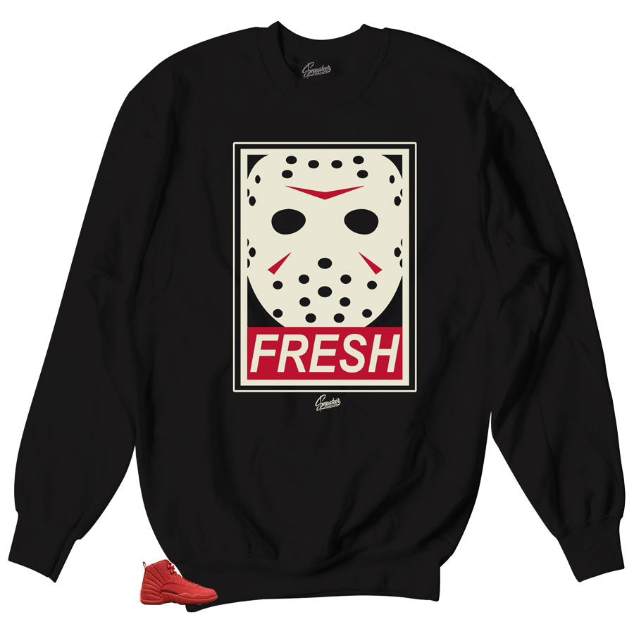 Jason fresh sweater to match with Jordan 12 Gym Red