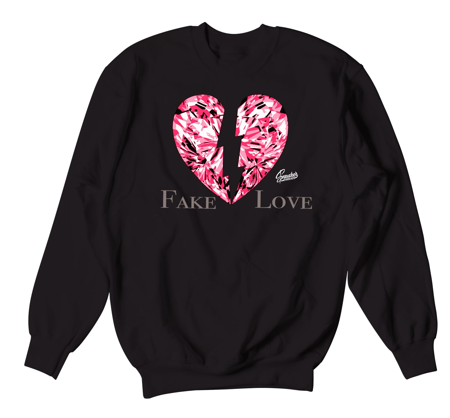 Jordan 4 Taupe Haze Sweater - Fake Love - Black