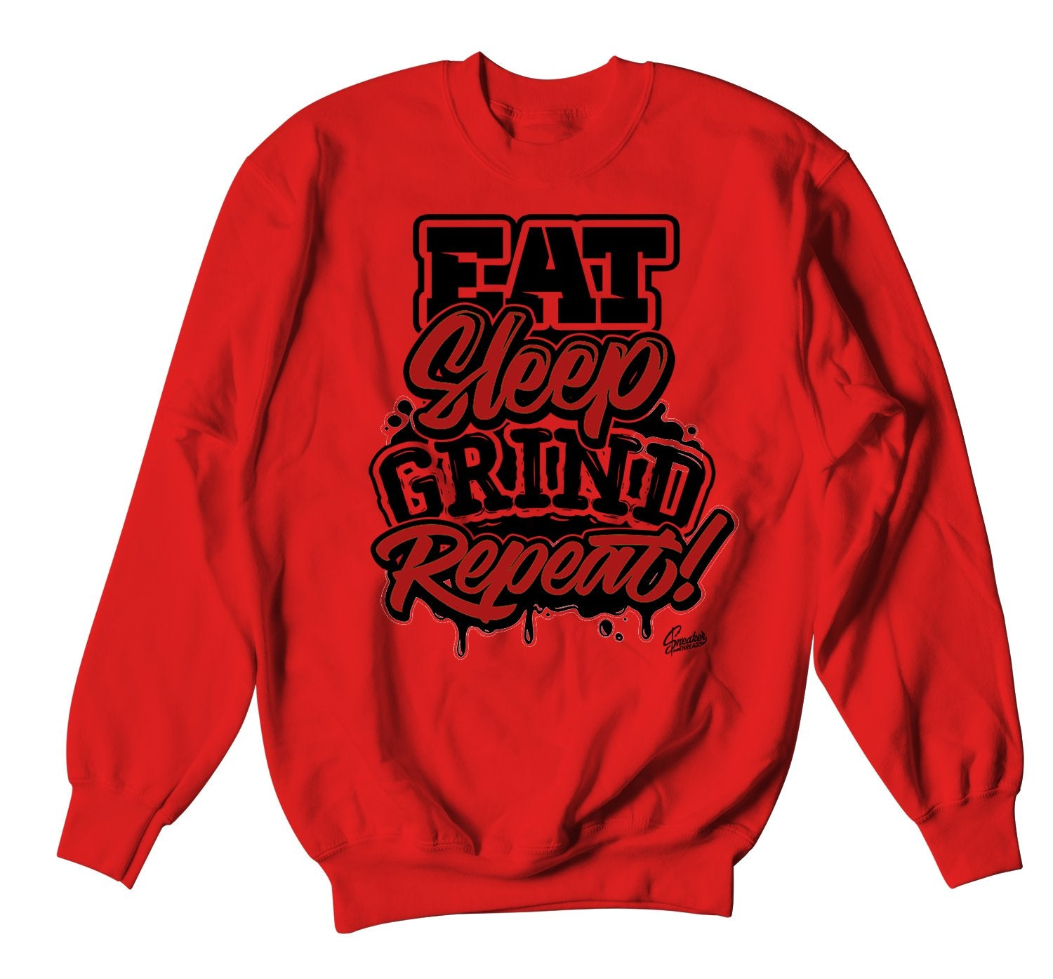 Red Freshest Grind Repeat Sweater for Red Carpet 17