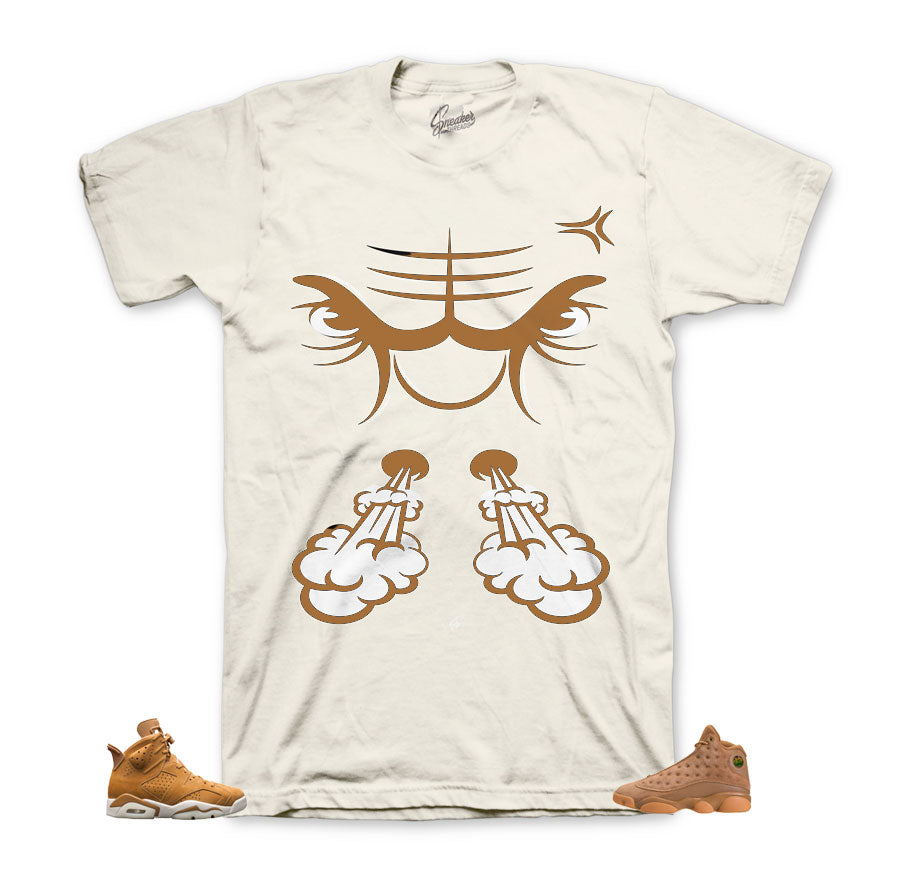 Wheat Jordan 6 shirts | Bullface shirts match shoes.