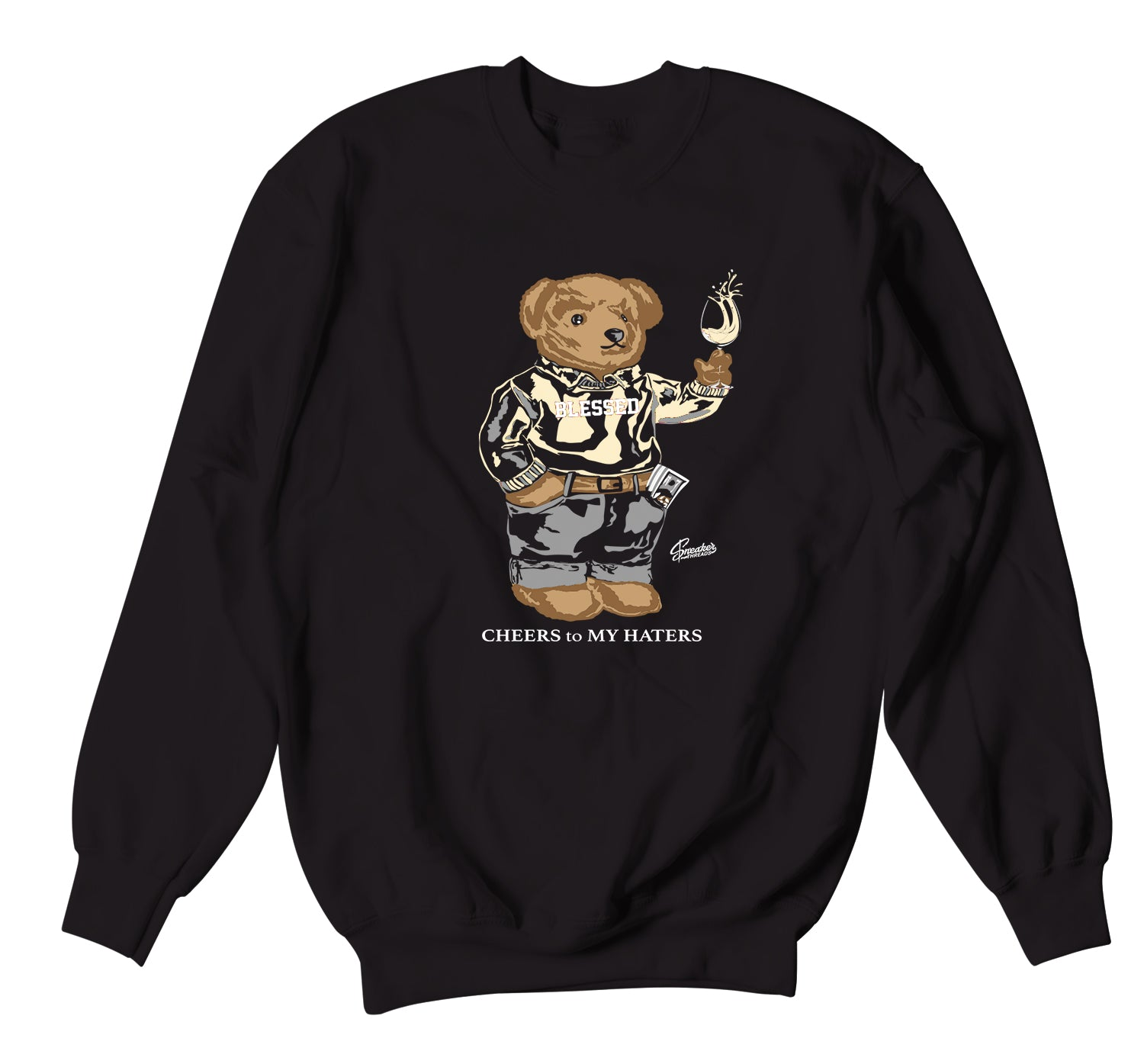 Yeezy Natural Sweater - Cheers Bear - Black