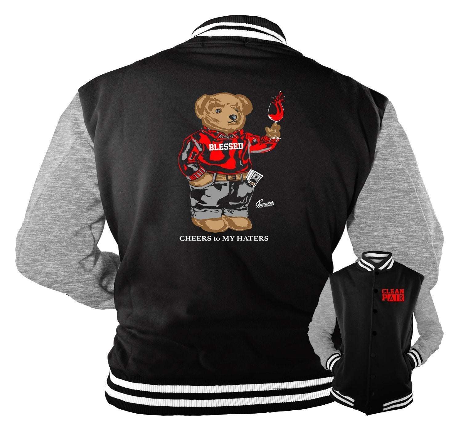 Jordan 14 quilted Bear Jacket for winter fit