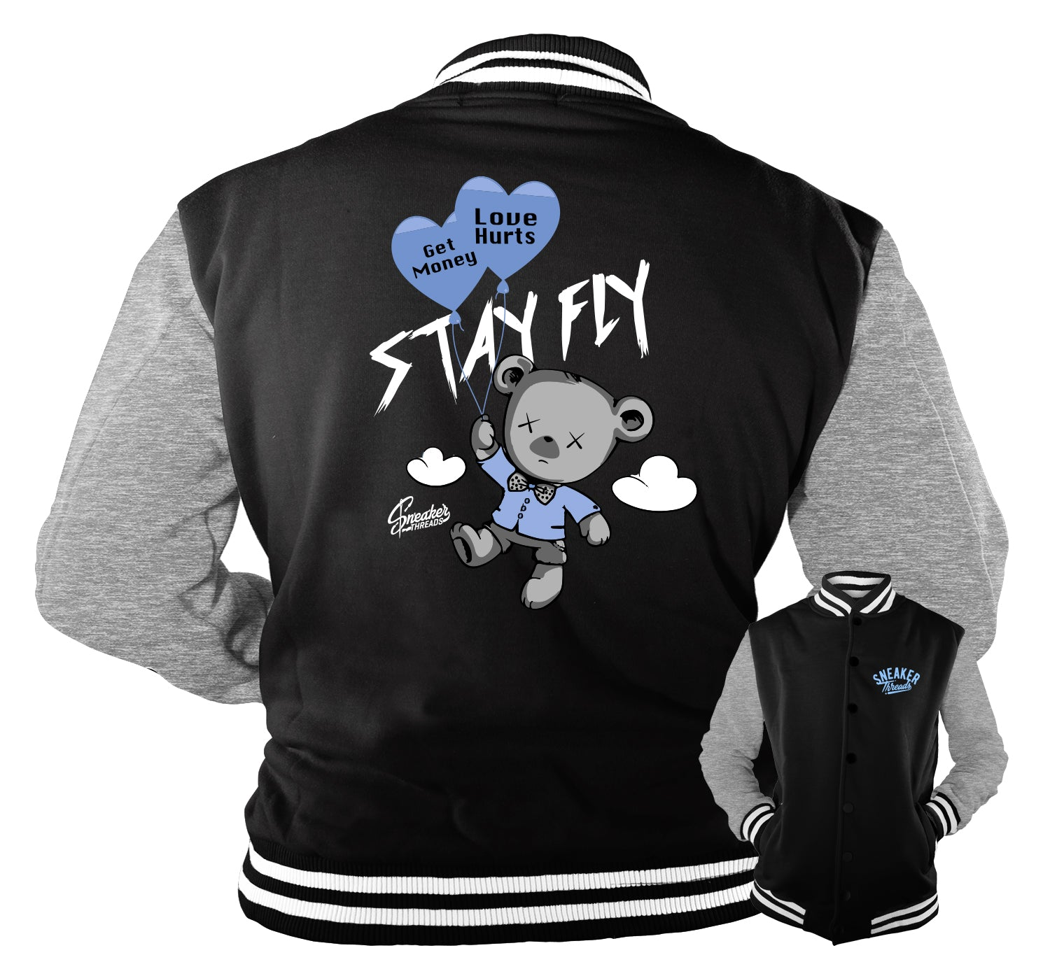 Jordan 3 UNC Jacket - Money Over Love - Black