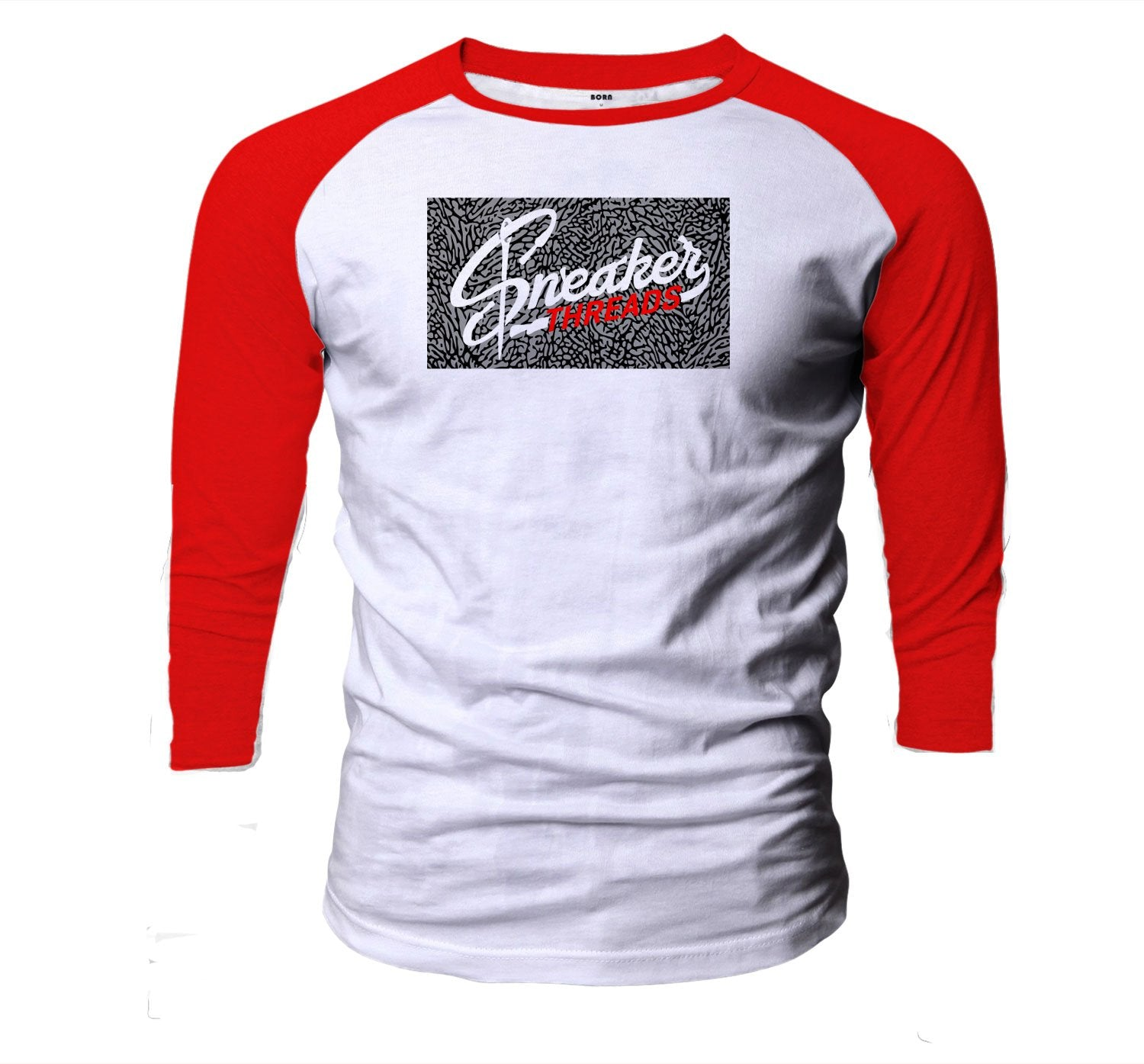 Red Cement Jordan 3s matching mens baseball tee collection