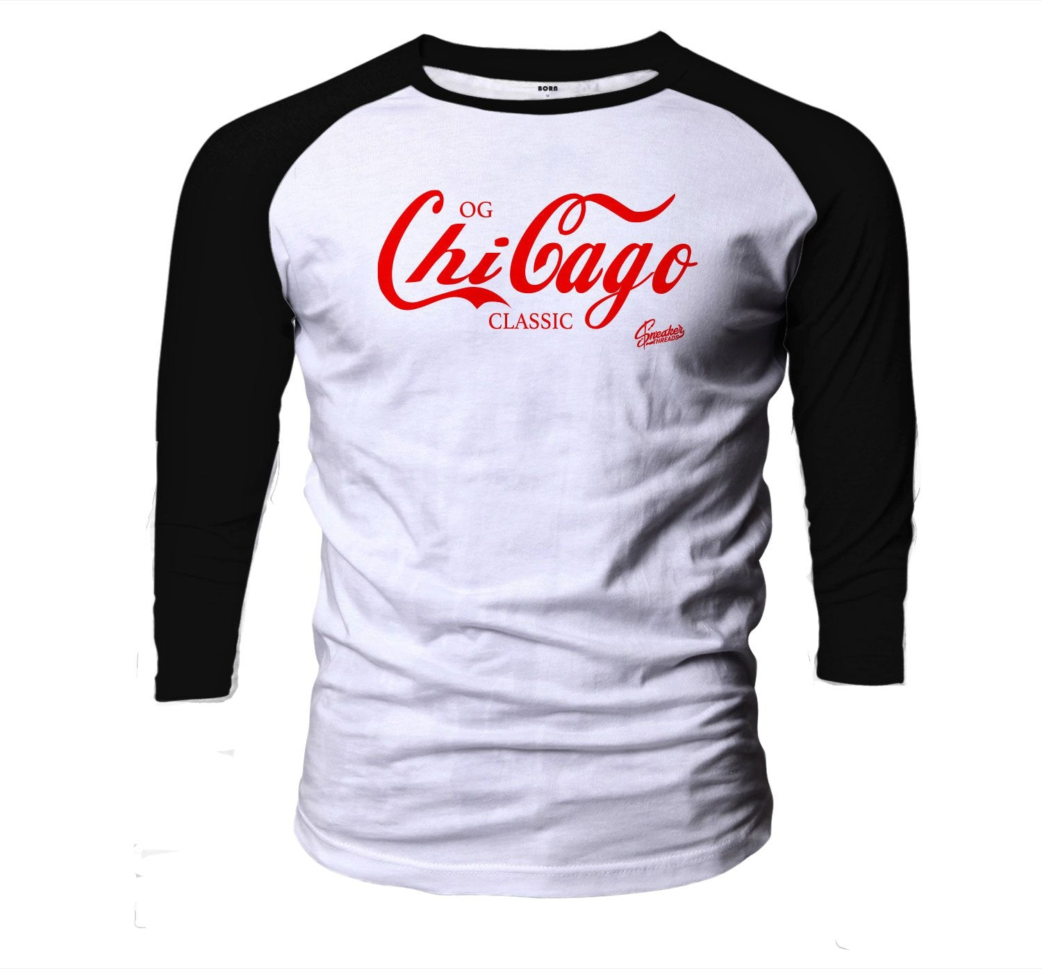 Raglan shirt collection for men designed to match the Jordan 3 red cement sneaker collection