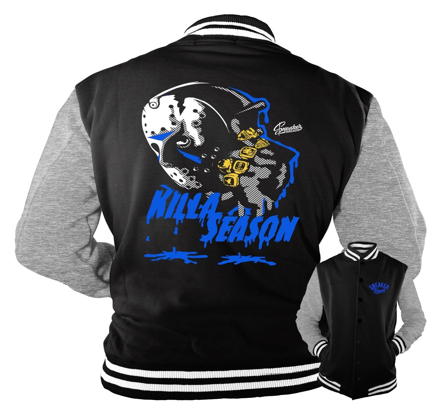 blue and black jordan outfit