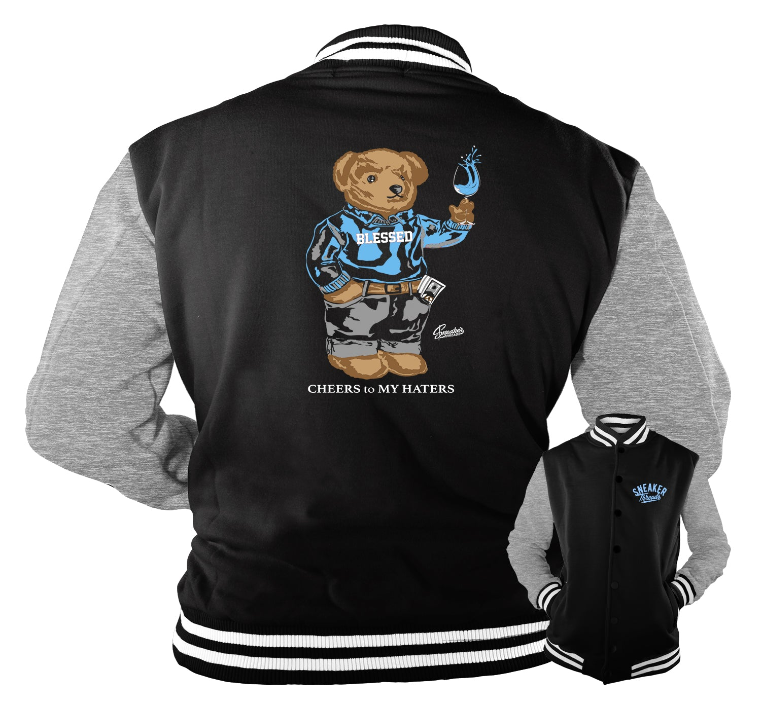 Jordan 3 UNC Jacket - Cheers Bear - Black