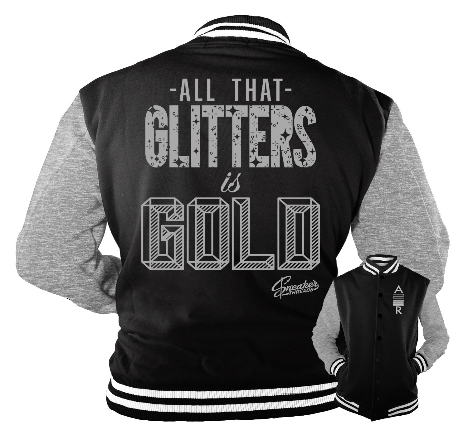 Glitters Jacket to match Metallic Silver 11's