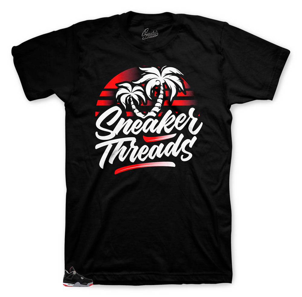 Jordan 4 breds retro collections have shirts that match and are designed to match the retro sneaker  Jordan 4 breds