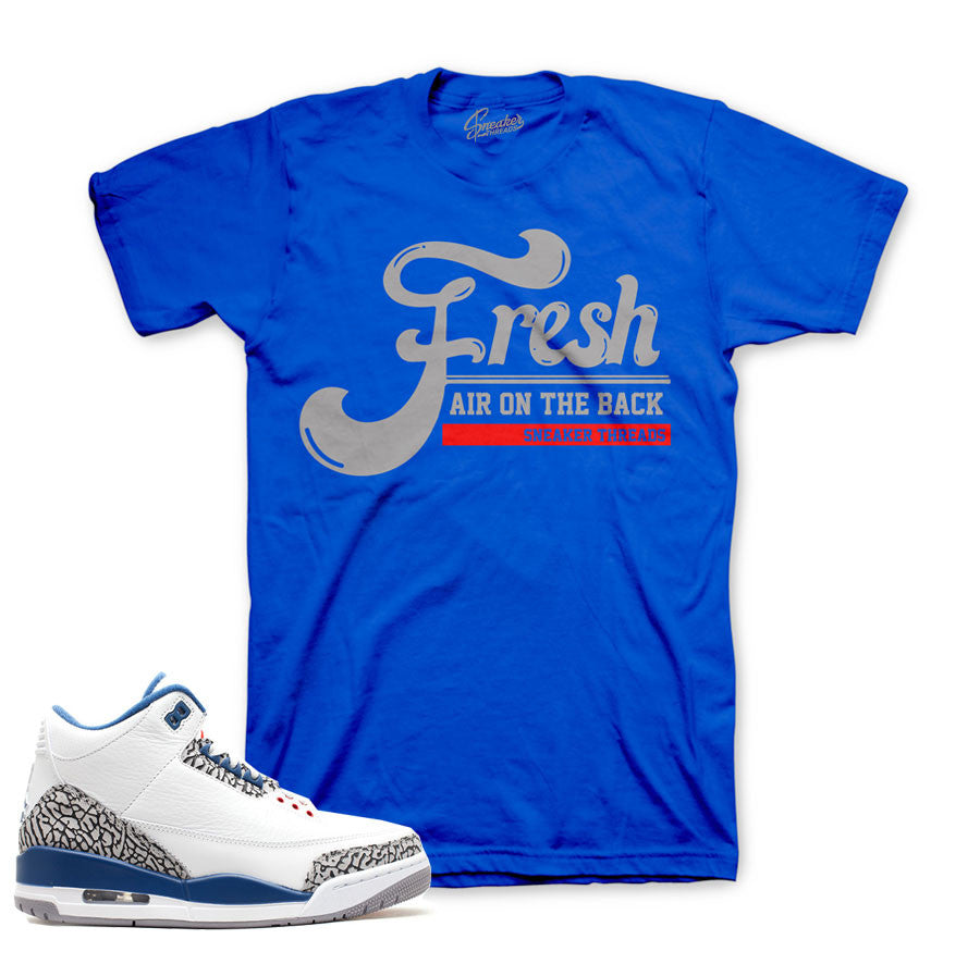2b38d714188857 Tees match Jordan 3 true blue retro 3 sneaker match clothes.