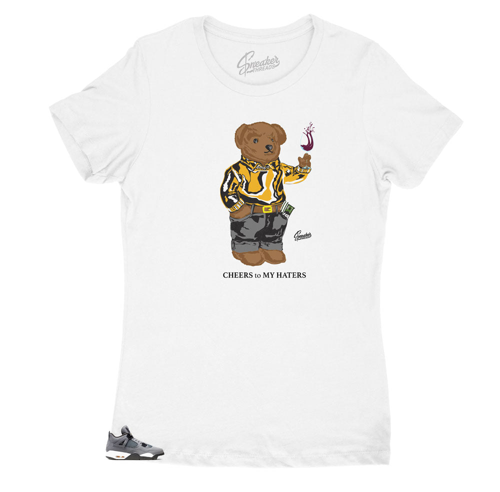 Bear nice shirts for women to match Jordan 4 Cool Grey release