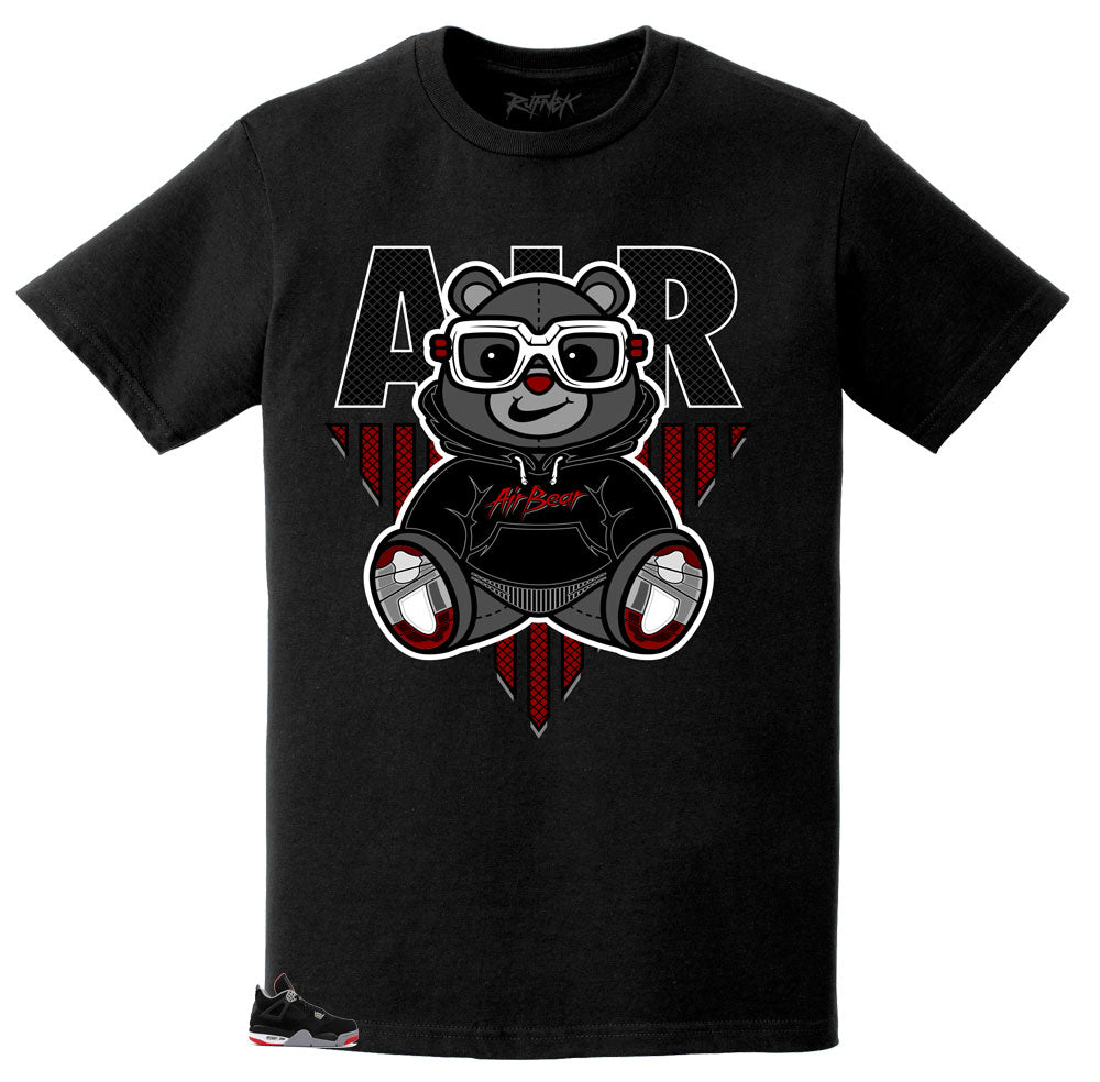 Rufnek Original Air Bear shirt to match Jordan Bred 4